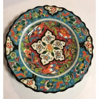 18cm Seramik Kabartma Dekoratif Tabak