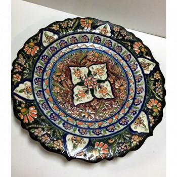 30cm Seramik Kabartma Dekoratif Tabak