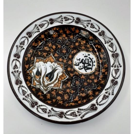 30cm Seramik Samur Desen Tabak