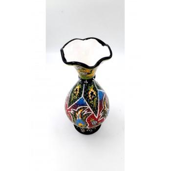 30cm Seramik Kabartma Desen Sümbül Vazo